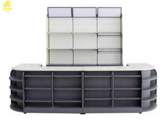 3400x600x2100mm Supermarket Checkout Stand، CR Steel Modern Retail Checkout Counters